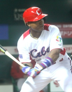 Alexei Bell slugs the first homer in Fukuoka WBC action.